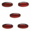 Glass Beads 16x6mm Siam Ruby Strung